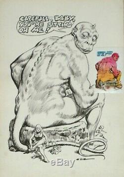Guido Buzzelli, Original For A USA Sticker, Signed