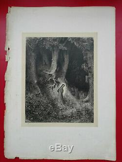 Hell Dante Alighieri Drawings By Gustave Dore 1865 L. Hachette Sheet No 1