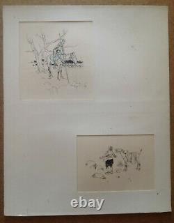 Henry Morin Cervantes Don Quixote 4 Drawing Ink Pencil 1905 Original Plank