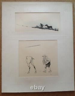 Henry Morin Cervantes Don Quixote 4 Drawing Pencil Ink 1905 Original Board