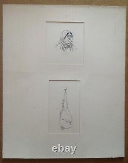 Henry Morin Cervantes Don Quixote 5 Drawing Ink Pencil 1905 Original Plank