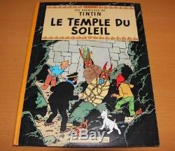 Hergé Tintin Beautiful Drawing Dedicated In The Temple Of The Sun B33 In The Nine Condition