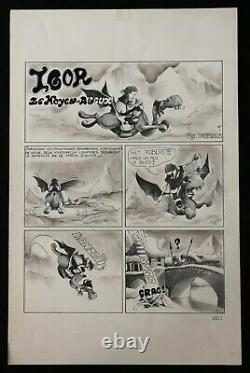 Igor The Middle Ages Original Drawing Signed Tatopoulos Drawing Cartoon