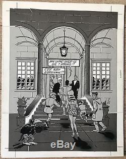 J. C. Denis Plate Original Drawing Luc Leroi 25 32 CM