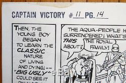 Jack Kirby Original Artwork Of Captain Victory Original Comic Art 1983