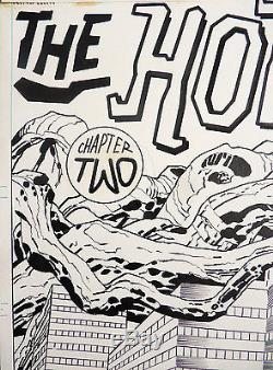 Jack Kirby Original Kamandi Splash Original Comic Art 1975
