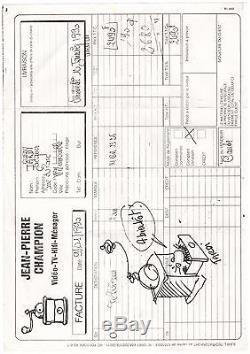 Jacques Tardi / Letter Autograph + Drawing (1982)