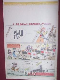 Jean Cezard Superb Board Original Title Surplouf The Beautiful Daurade Tbe