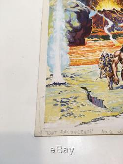 Jean Frisano Cover Original Waki n ° 4 Strange Marvel Lug Drawing