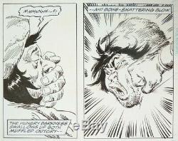John Buscema Original Sheet Of Conan The Barbarian Marvel 1995