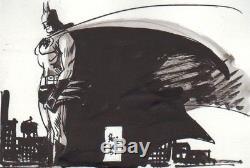 Jordi Bernet Drawing Original Batman