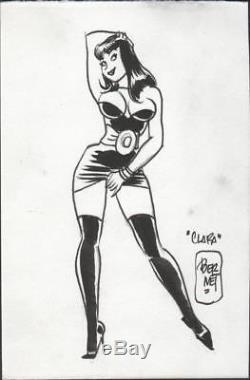 Jordi Bernet Original Drawing Clara De Noche Signed