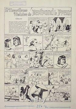 Josse Original Board For The Newspaper The Great Adventures Circa 1942