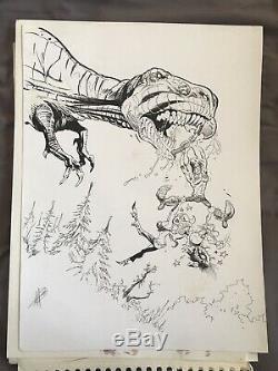 Krän The Barbarian Herenguel Drawing Board Original Bd Glenat Wind West
