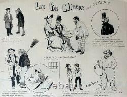 L'affichiste E. Genault // Drawing Original Planche Illustration Journal (39)