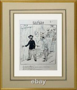 L'affichiste E. Genault // Drawing Original Planche Illustration Journal (42)