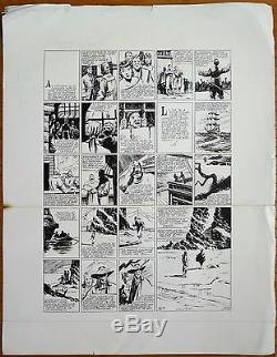 Large Original Plate By Claude-henri Juillard For L'invincible Circa 1955