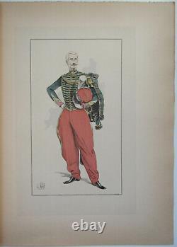 Le Chic A Cheval L Vallet 1891 Officer Of The Guide De La Garde Planche 33 X 25