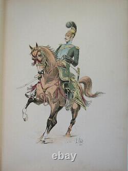 Le Chic A Cheval L Vallet 1891 Officier Des Chevau Léger Lancier Planche 33 X 25