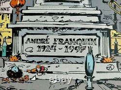Lithograph Plank Drawing Original No. 8/20 Andre Franquin 1924/1997 Eo Colman
