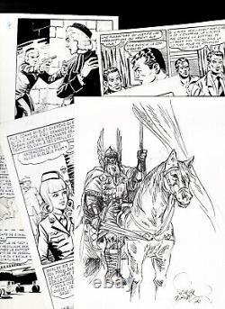 Lot 8 Boards And Original Drawings Lemercier Shirley Geron Huescar Giordan