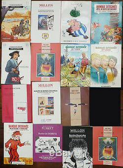 Lot Of 15 Original Boards Catalogs Comics Comics Moebius Tardi