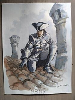 Marini Original Drawing / Watercolor Le Scorpion