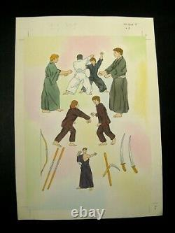 Martial Arts Original Drawing Game Board Denver's Journal Tbe