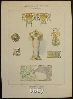 Maurice Daurat Jewellery Drawings Chromo Art Nouveau Calavas Malherbe
