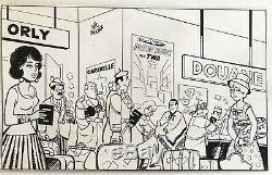 Michel Houdelinckx Drawing Original Ink MIC Board Bd Delinx