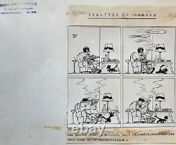 Michel Houdelinckx Drawing Original Plank Bd Ink MIC Delinx