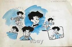 Michel Houdelinckx Original Drawing Board Bd Ink Watercolor MIC Delinx