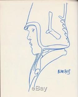 Moebius Arzach Dedication Original Drawing