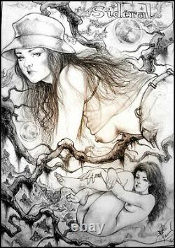 Nude Original Drawing By Claude Mâtre Curiosa Original Board Art