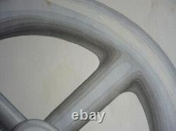 Original 1890 Industrial Design Board Tore In Rare Wash