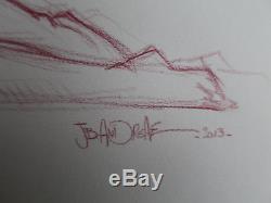Original Andreae Pin-up Drawing
