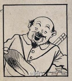 Original Board Benjamin Rabier Le Retour De Marius Jeunesse Illustré 1907