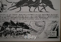 Original Board Drawing Comics Cartoon Patrice Greenhouses Ants B. Werber # 4