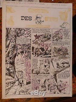 Original Board Drawing Original Art Pif Nortier 50/33 CM Rabbit Hunter