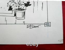 Original Board Of DI Sano Album Original Drawing Bd Spirou Tintinfleurus