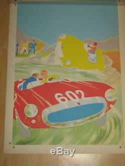 Original Board Of Printing Michel Vaillant Color Essay Le Mans 2