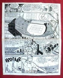 Original Board Of Reding Original Cartoon Tintin Newspaper For Jari