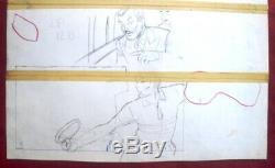 Original Board Reding Original Drawing Comics For Tintin Magazine Jari