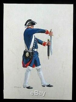 Original Cartoon By Michel Planche Pétard- Signed In 1990 Uniform Empire