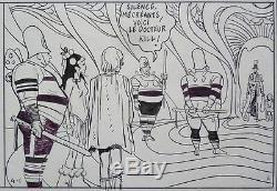 Original Comic Book Of Robert Gigi For Orion The Planetary Scrub