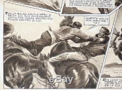 Original Comic Strip He Passo Degli Avvoltoi De Bozzi Western Published In 1952