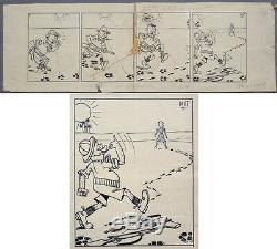 Original Comic Strip Marcel Turlin Said Mat Around 1945 Ink Drawing