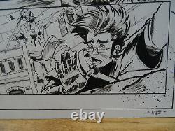 Original Drawing A3 2 Original Board Marco Itri Dedicace Fumetti Zombie Wd