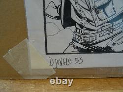 Original Drawing A3 Original Board Marco Itri Djungle Dedicace Fumetti Tavola