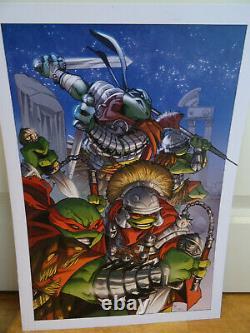 Original Drawing A3 Original Board Marco Itri (dedication) Turtles Ninja Tmnt